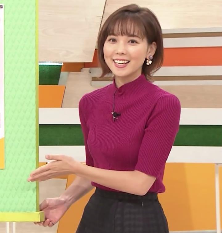 ヒロド歩美アナ ニット横乳キャプ・エロ画像5