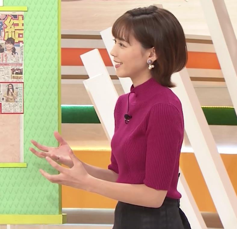 ヒロド歩美アナ ニット横乳キャプ・エロ画像6