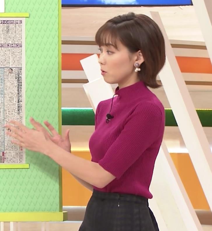 ヒロド歩美アナ ニット横乳キャプ・エロ画像8