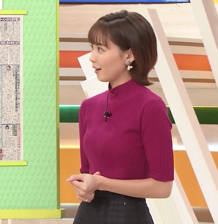ヒロド歩美アナ ニット横乳キャプ・エロ画像9