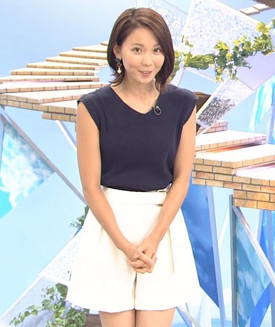 ヒロド歩美アナ 肌の露出が多いけどさわやかな服キャプ・エロ画像4