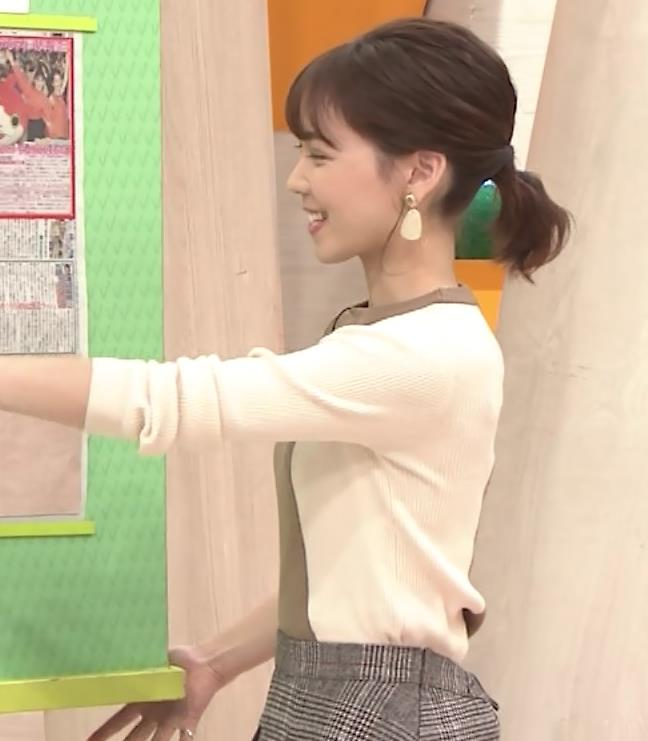 ヒロド歩美アナ ちっぱい横乳キャプ・エロ画像3