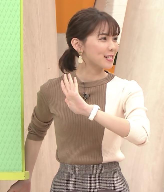 ヒロド歩美アナ ちっぱい横乳キャプ・エロ画像4