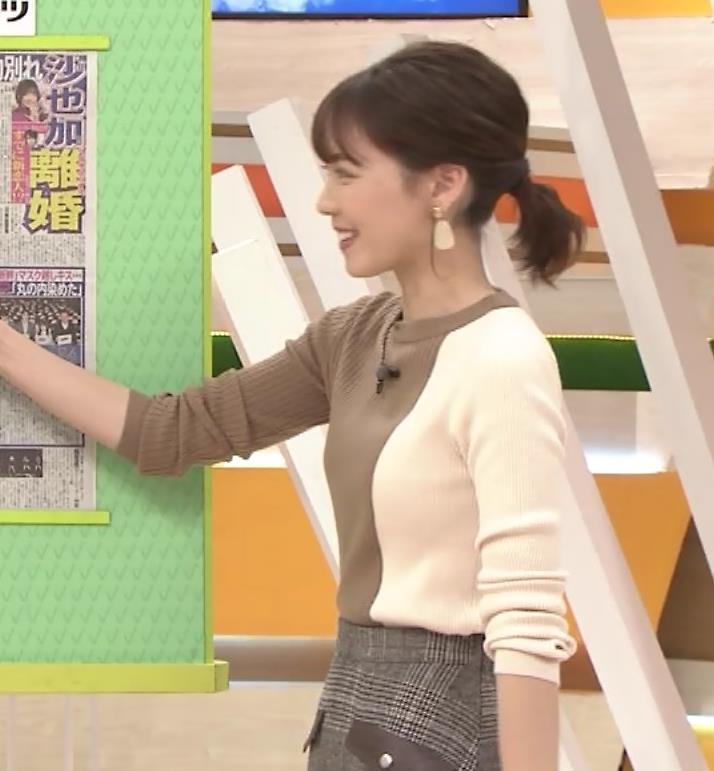ヒロド歩美アナ ちっぱい横乳キャプ・エロ画像6