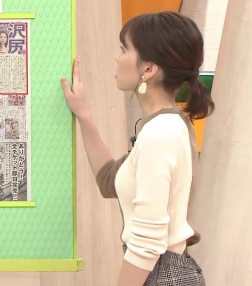ヒロド歩美アナ ちっぱい横乳キャプ画像(エロ・アイコラ画像)