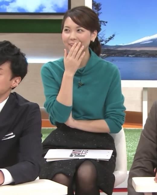 ヒロド歩美 ミニスカ黒ストッキングキャプ画像(エロ・アイコラ画像)