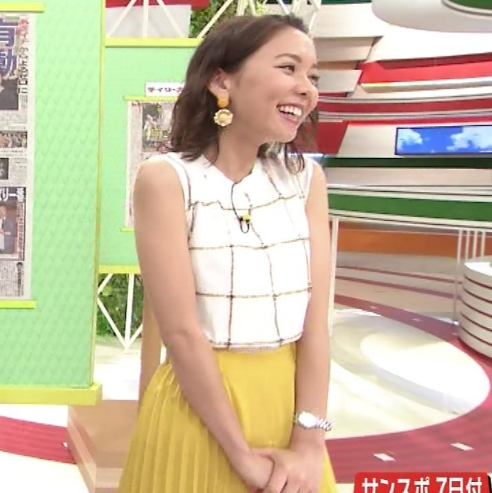 ヒロド歩美アナ ノースリーブ横乳キャプ・エロ画像6