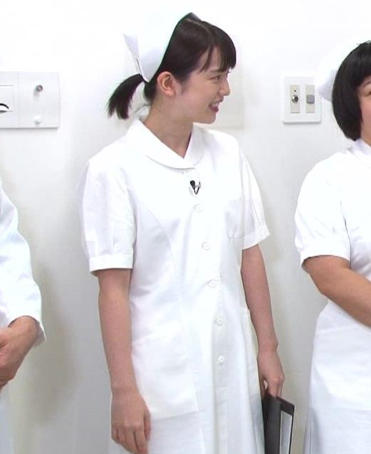 弘中綾香アナ まったくエロくないナースコスプレキャプ・エロ画像