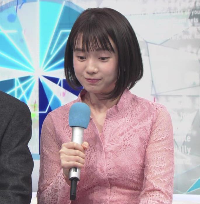 弘中綾香アナ レースのシャツのおっぱいキャプ・エロ画像5