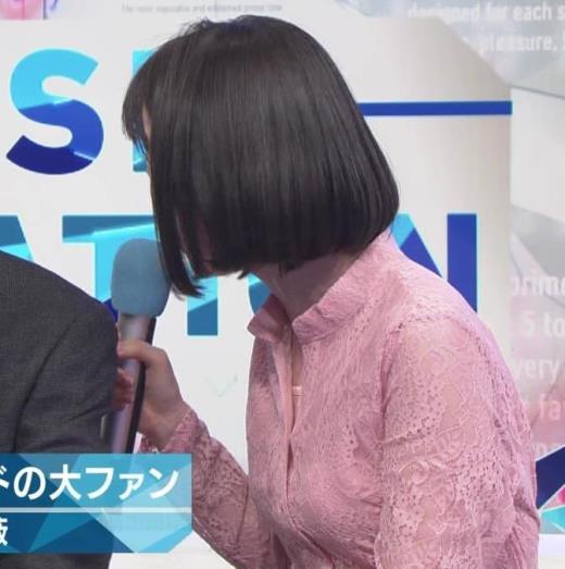 弘中綾香 レースのシャツのおっぱいキャプ画像(エロ・アイコラ画像)