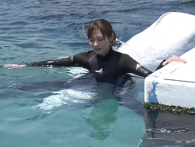 アナ ある意味水着!エロいウエットスーツ姿キャプ・エロ画像13