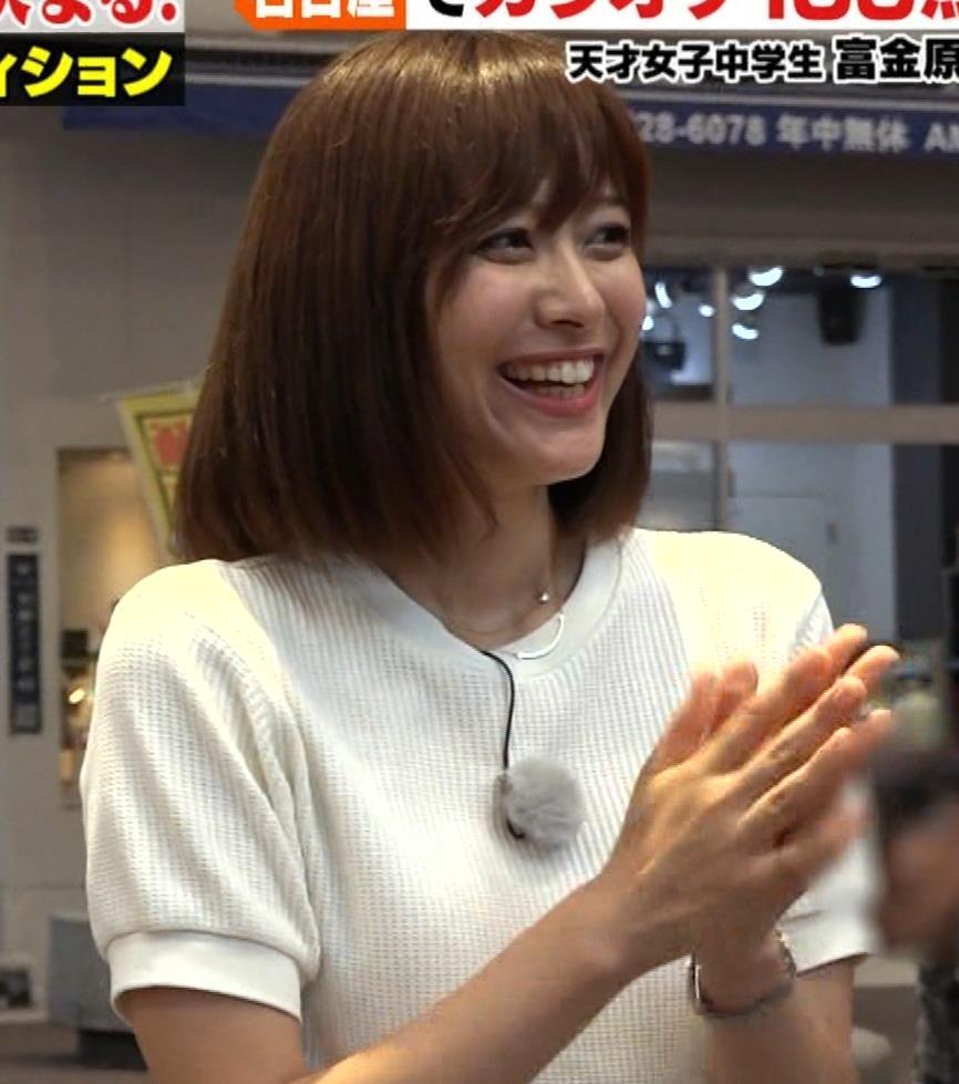 久冨慶子アナ ふんわりニット乳キャプ・エロ画像3