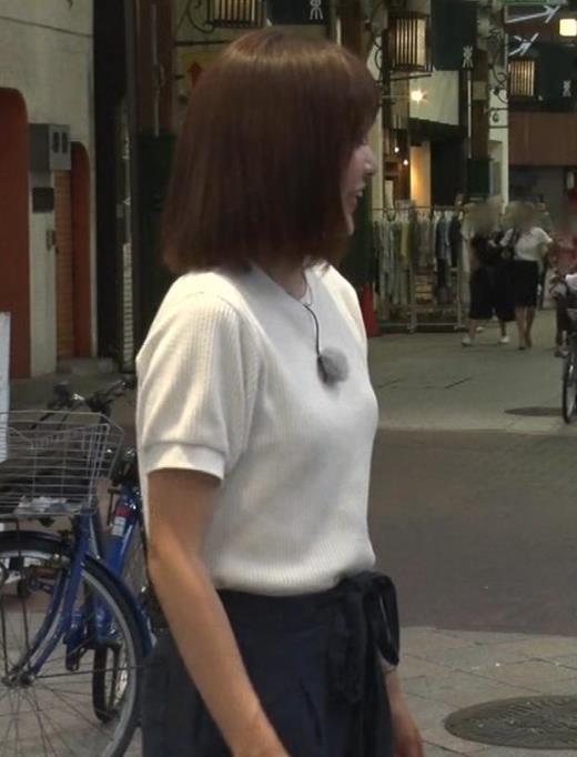 久冨慶子アナ ふんわりニット乳キャプ画像(エロ・アイコラ画像)