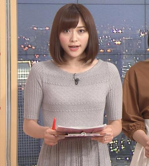 久冨慶子アナ かわいい女子アナのニット微乳キャプ・エロ画像