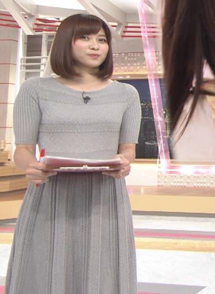 久冨慶子アナ かわいい女子アナのニット微乳キャプ・エロ画像3