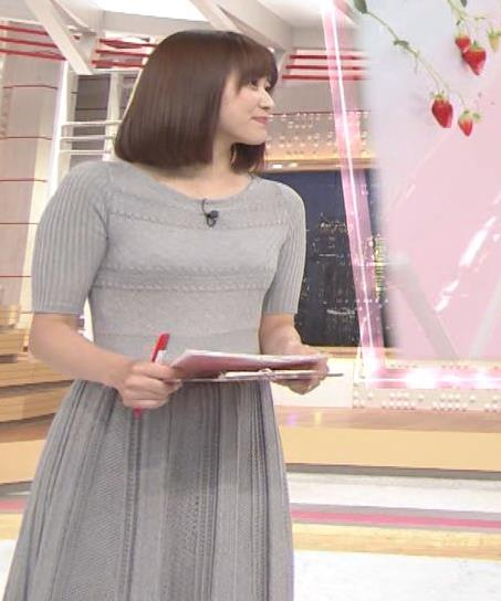 久冨慶子アナ かわいい女子アナのニット微乳キャプ・エロ画像4