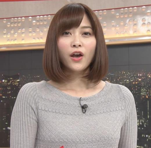 久冨慶子 かわいい女子アナのニット微乳キャプ画像(エロ・アイコラ画像)
