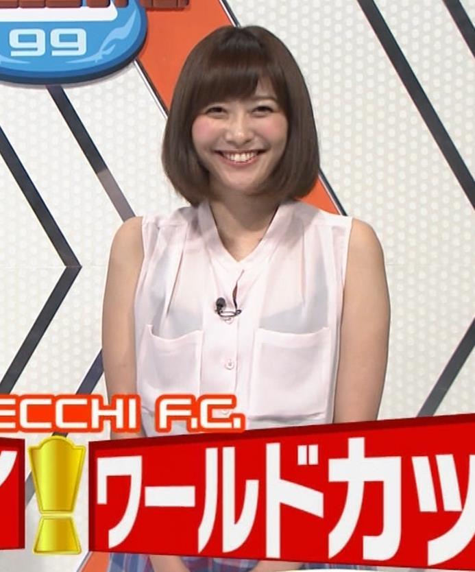 久冨慶子アナ スケスケのノースリーブ!キャプ・エロ画像2