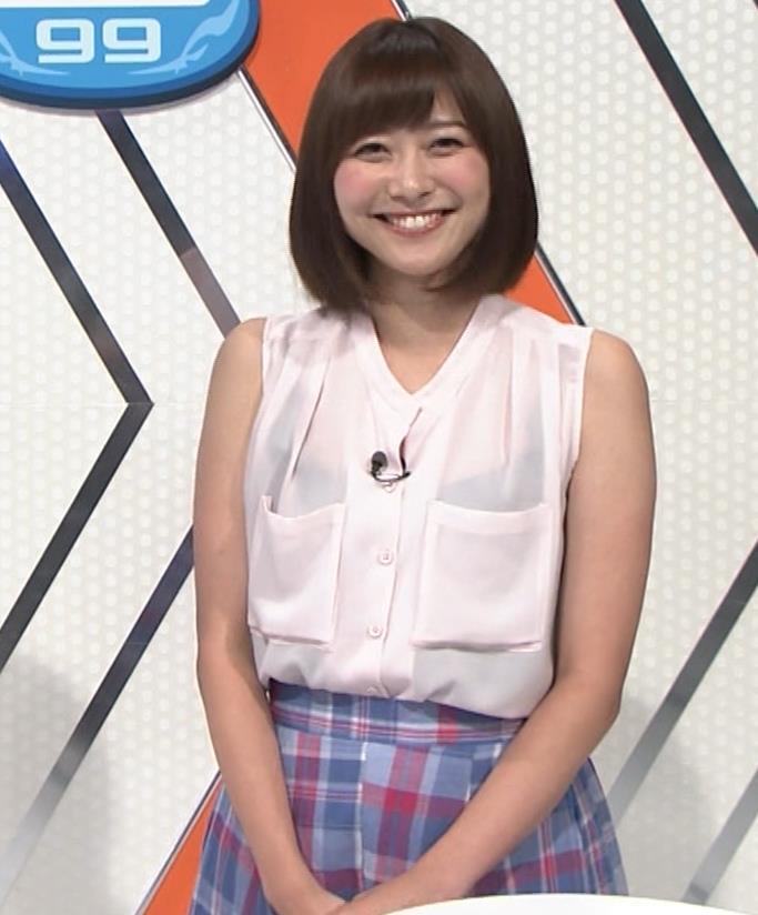 久冨慶子アナ スケスケのノースリーブ!キャプ・エロ画像6