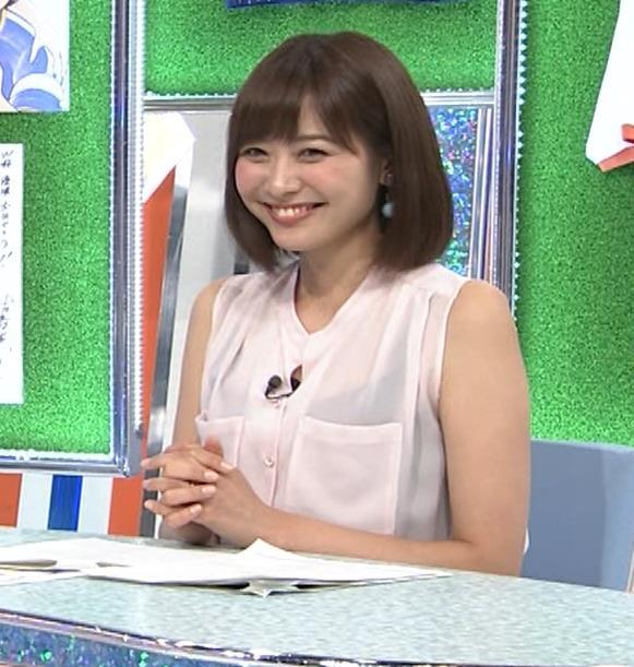 久冨慶子アナ スケスケのノースリーブ!キャプ・エロ画像7