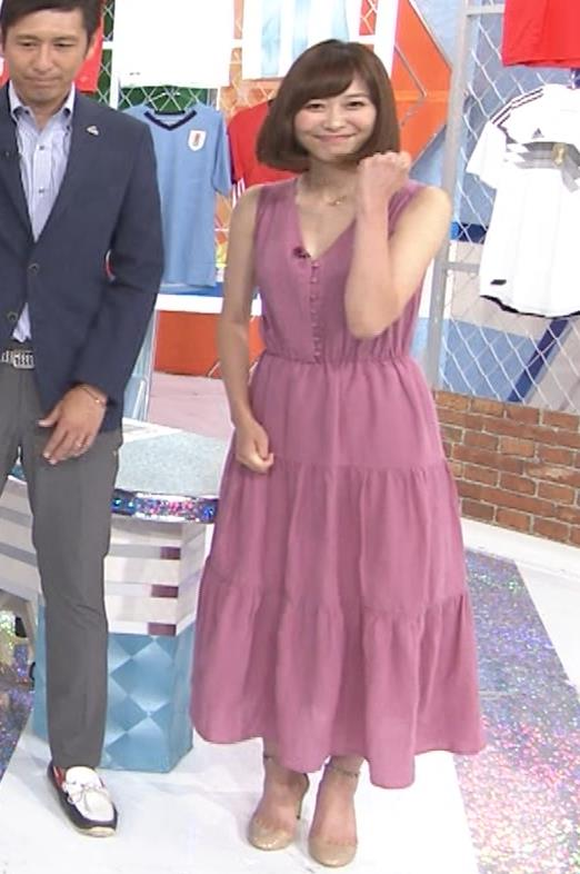 久冨慶子アナ 肌がけっこう露出したワンピースキャプ・エロ画像2