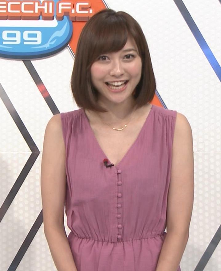 久冨慶子アナ 肌がけっこう露出したワンピースキャプ・エロ画像4