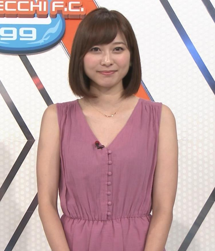 久冨慶子アナ 肌がけっこう露出したワンピースキャプ・エロ画像5