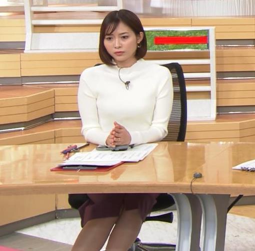 久冨慶子アナ 机の下の脚!キャプ・エロ画像2