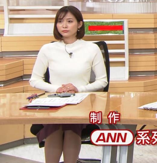久冨慶子アナ 机の下の脚!キャプ・エロ画像3