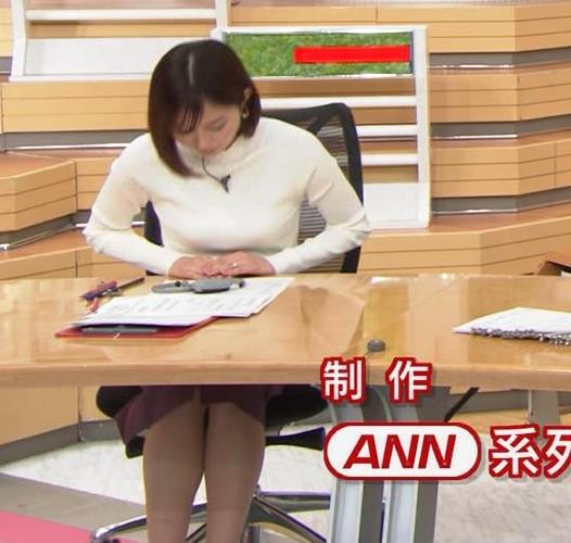 久冨慶子アナ 机の下の脚!キャプ・エロ画像4