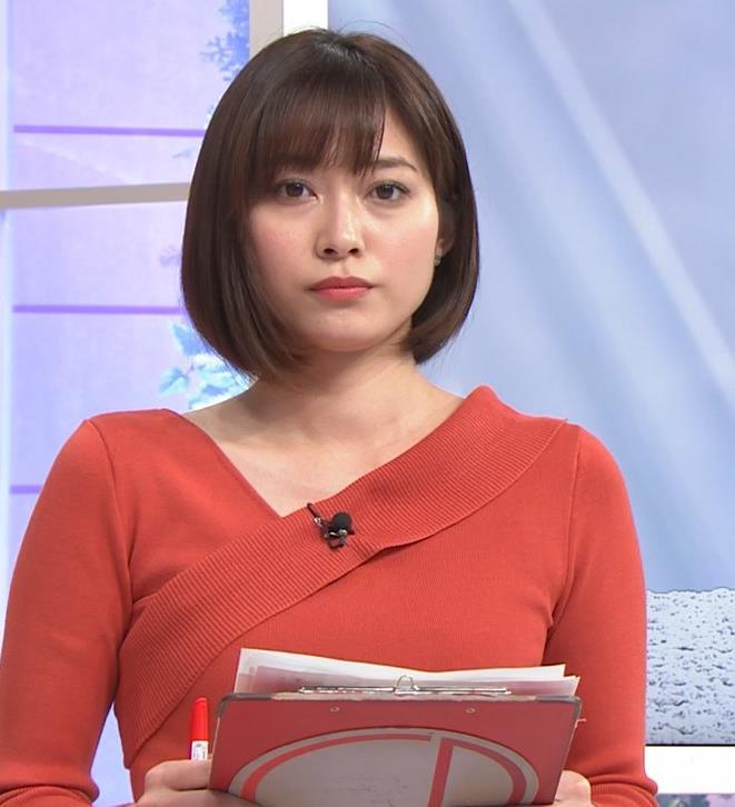 久冨慶子アナ ちょっと胸がエロい服キャプ・エロ画像