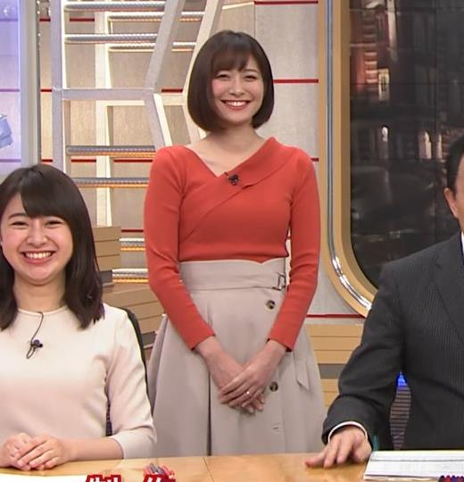 久冨慶子アナ ちょっと胸がエロい服キャプ・エロ画像5