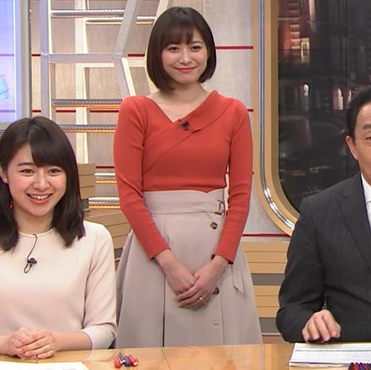 久冨慶子アナ ちょっと胸がエロい服キャプ・エロ画像6