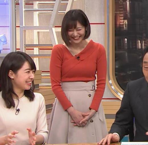 久冨慶子アナ ちょっと胸がエロい服キャプ画像(エロ・アイコラ画像)