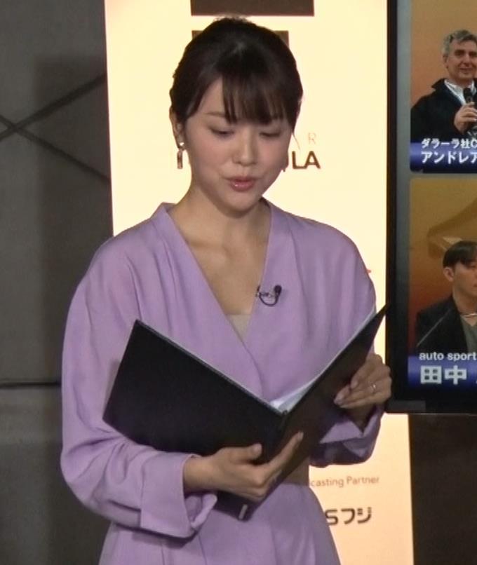 本田朋子アナ 胸元がエロいキャプ・エロ画像5