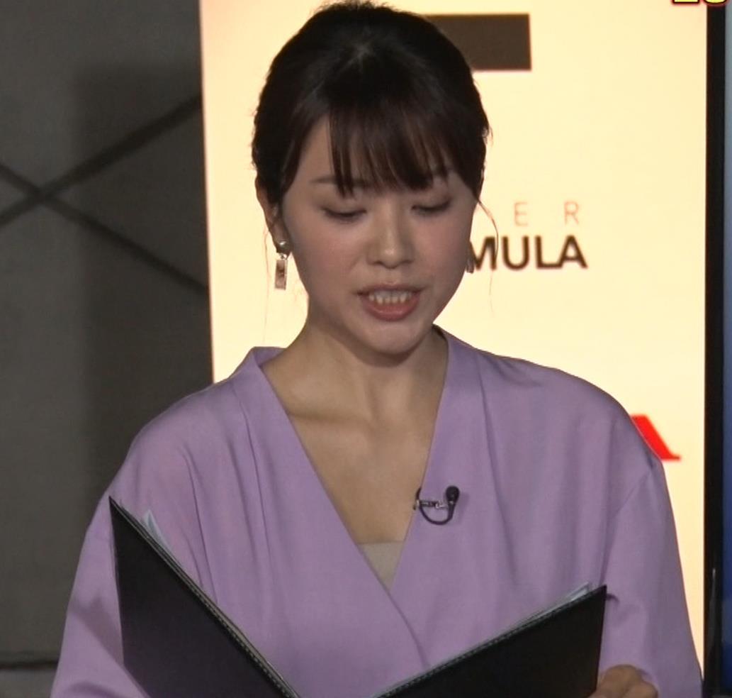 本田朋子アナ 胸元がエロいキャプ・エロ画像8