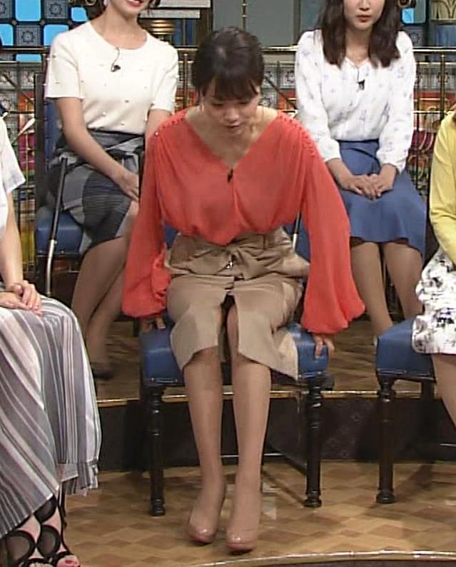 本田朋子アナ 脚を開いたらスカートの中が見えた!GIF動画 さんま御殿キャプ・エロ画像