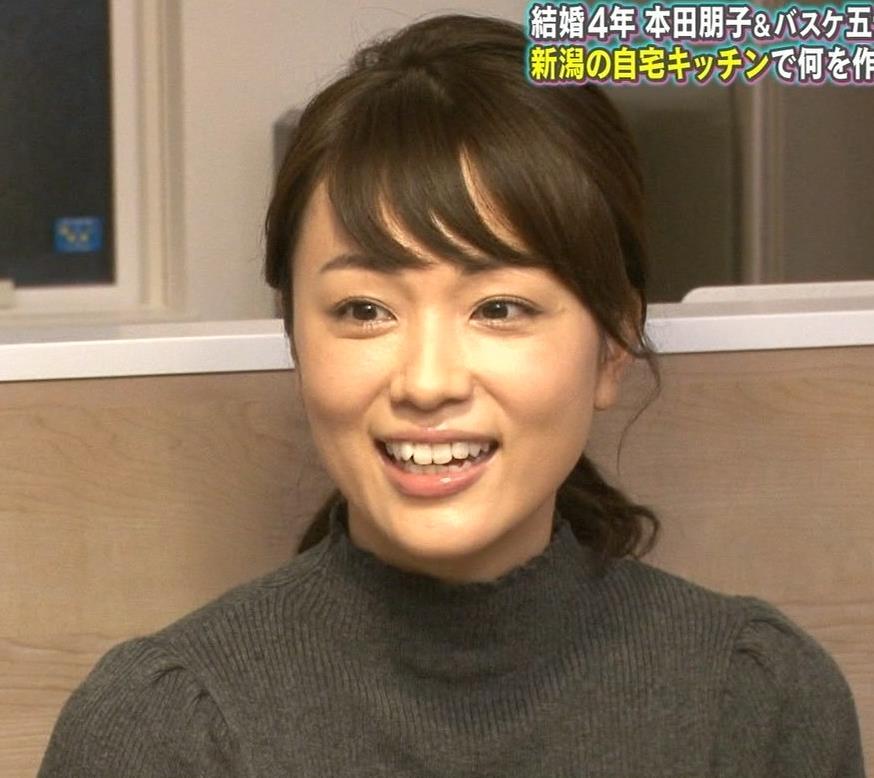本田朋子アナ 人妻ニット横乳キャプ・エロ画像9
