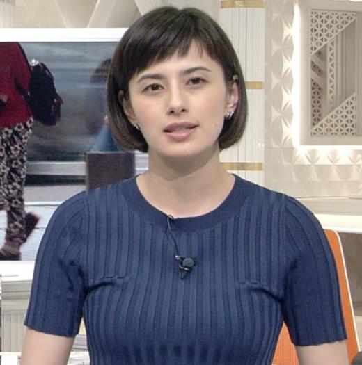 ホラン千秋 ピチピチTシャツで巨乳が強調されるキャプ画像(エロ・アイコラ画像)