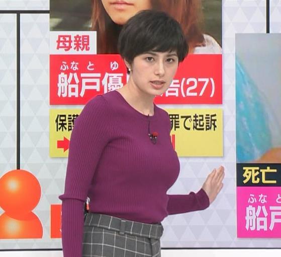 ホラン千秋 ニット巨乳がエロ過ぎキャプ・エロ画像2