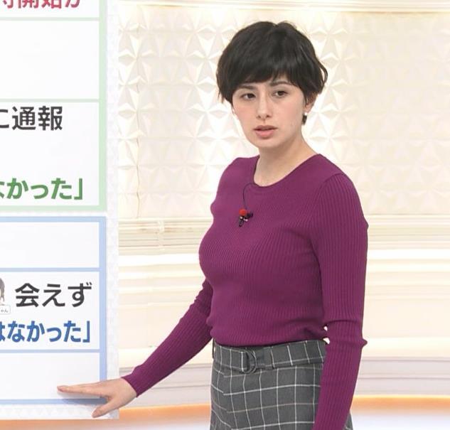 ホラン千秋 ニット巨乳がエロ過ぎキャプ・エロ画像4