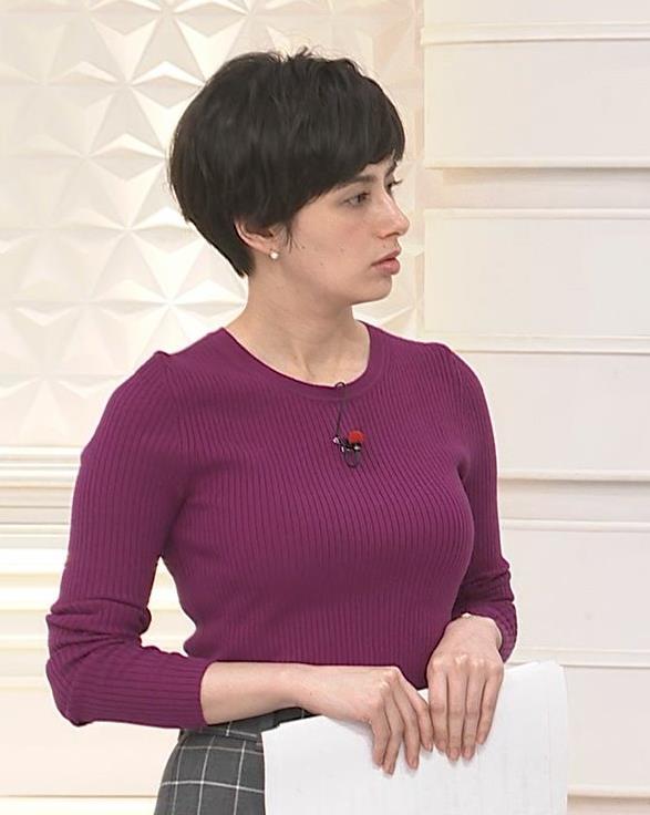 ホラン千秋 ニット巨乳がエロ過ぎキャプ・エロ画像5