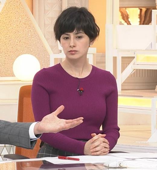 ホラン千秋 ニット巨乳がエロ過ぎキャプ・エロ画像8