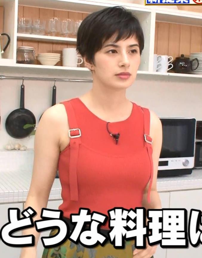 ホラン千秋 タンクトップみたいな服でおっぱいがエロいキャプ・エロ画像2