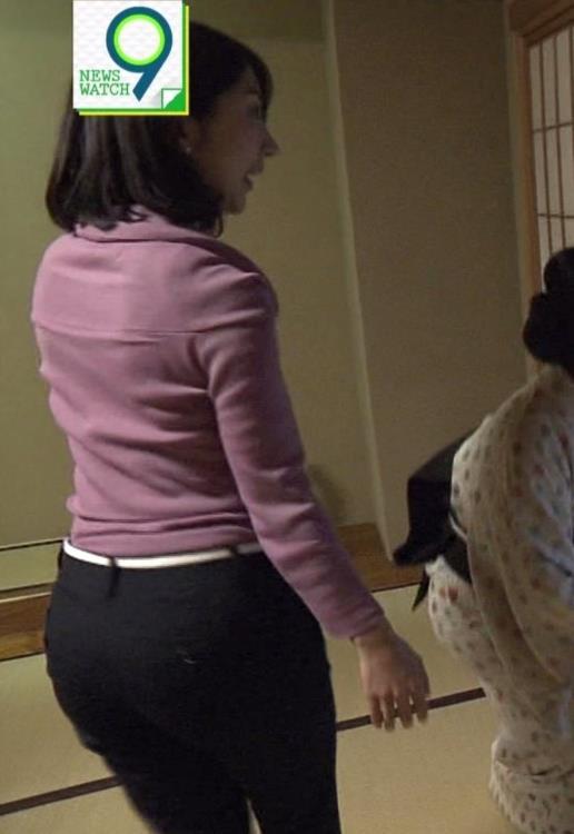 保里小百合アナ NHKの巨乳アナのニットおっぱいキャプ・エロ画像2