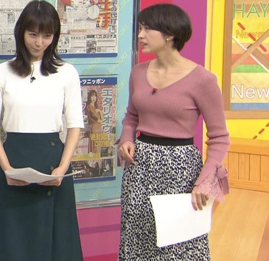 堀口ミイナアナ セクシーなニットおっぱいキャプ・エロ画像4