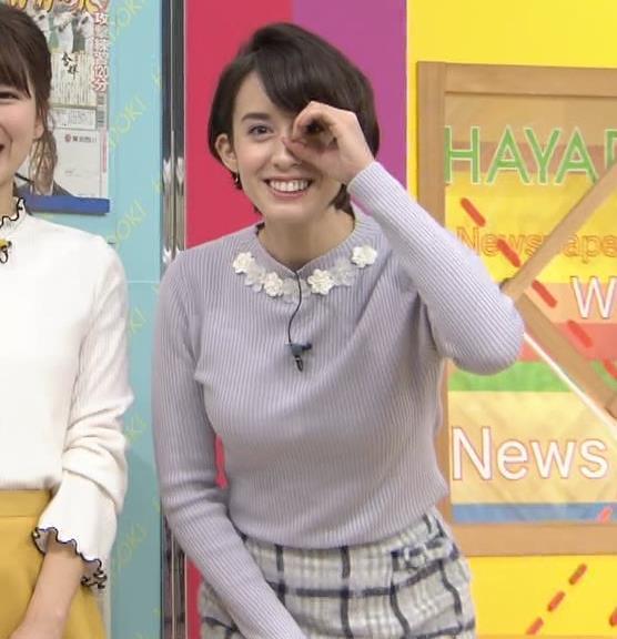 堀口ミイナ 朝のニュースにはスカート短過ぎ。乳デカいし、カラダのラインがエロい。キャプ・エロ画像2