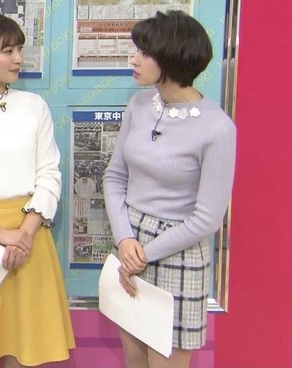 堀口ミイナ 朝のニュースにはスカート短過ぎ。乳デカいし、カラダのラインがエロい。キャプ・エロ画像6