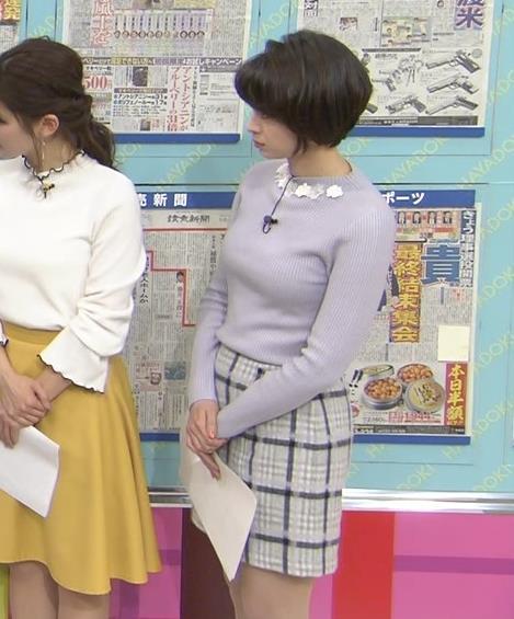 堀口ミイナ 朝のニュースにはスカート短過ぎ。乳デカいし、カラダのラインがエロい。キャプ・エロ画像8