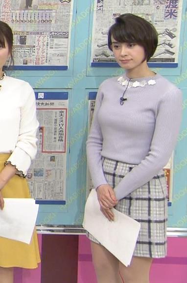 堀口ミイナ 朝のニュースにはスカート短過ぎ。乳デカいし、カラダのラインがエロい。キャプ・エロ画像9